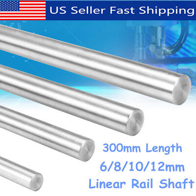 300mm 681012mm Cnc 3d Printer Axis Chromed Smooth Rod Steel Linear Rail Shaft
