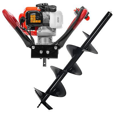 V-type 55cc 2 Stroke Gas Post Hole Digger 34 Shaft 1-man Auger Digger 6bit