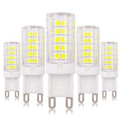 5pcs G9 Dimmable LED Light Bulb 64-2835 Lamp Ceramics Lights 5W 120V Highlight (120v Light Bulb Lamp)