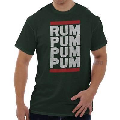 Christmas Music Little Drummer Boy - Little Drummer Boy Rum Pum Xmas Music Cute Christmas Song Ladies T Shirt Tee