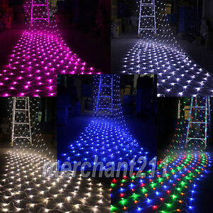 320-LED-4-5M-x-1-6M-Net-Fairy-Lights-Mesh-Lighting-Christmas-Wedding-Party