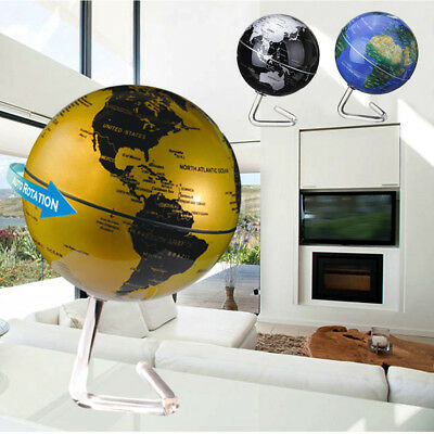 Auto Rotating Globes Earth Ocean Globe World Geography Map Desktop - Decorative World Globe