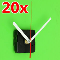 20Kits DIY Red+White Hands Wall Quartz Clock Mechanism Movement Repair Tools NEW
