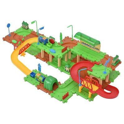 Electric Train Tracks Set For Kids Toddler Toy Children Building Blocks 71 Pcs