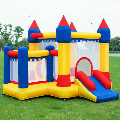 Inflatable Bounce House Castle Kids Jumper Slide Moonwalk Bouncer without (Slide Bounce House)