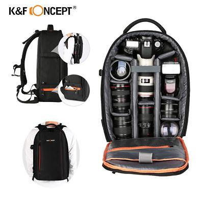 K&F Concept Large DSLR Camera Backpack Bag Case Waterproof for Canon Nikon Sony
