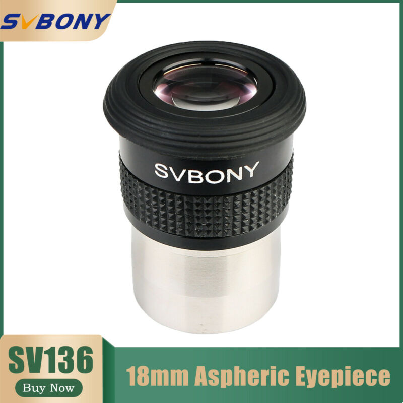 SV136 Telescope Eyepieces 18mm Wide Angle 72°Aspheric Fully Multi Coated Astro