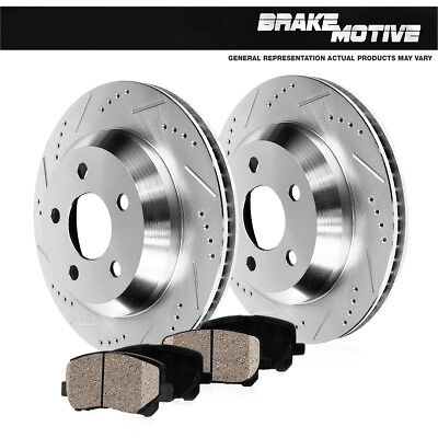- Rear Drill Slot Brake Rotors + Ceramic Pads For FX35 M37 M56 Q70 Murano Quest
