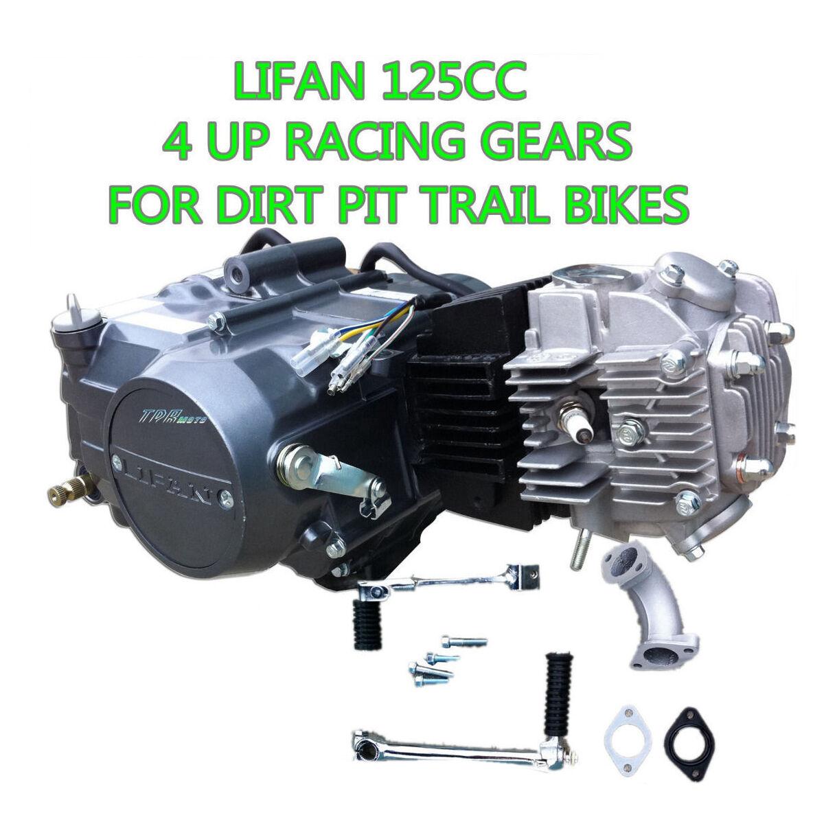 LIFAN 125cc 4UP Gear Manual Clutch Engine Motor Dirt Pit Bike Atomik  Thumpstar