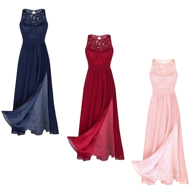 f56aae27f4a7f9 Damen Kleid Spitzenkleid Cocktailkleid Brautjungfer Hochzeit Kleider  Festkleid