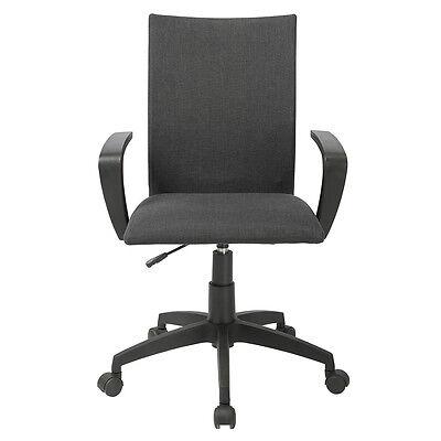 Black Ergonomic Desk Task Office Chair Midback Executive Computer Chair