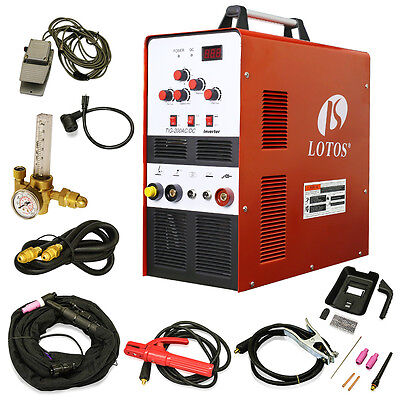 Tigstick Square Wave Inverter Acdc Aluminum 200a Lotos Tig200 Welder Brand New