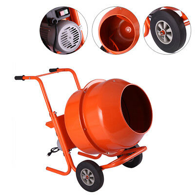 Portable 5cuft 12hp Electric Concrete Cement Mixer Barrow Machine Mixing Mortar