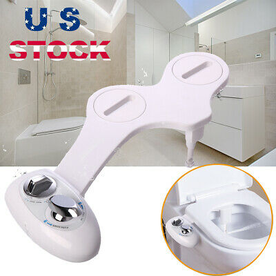Bathroom Bidet Toilet Seat Attachment Fresh Water Spray Clean Kit Non-Electric