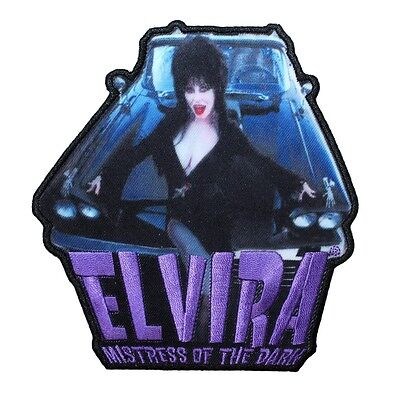Elvira  Mistress Of The Dark  Macabre Mobile Horror Icon Iron On Applique Patch