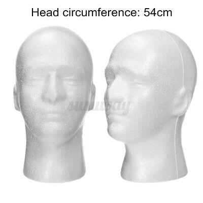 11 Styrofoam Foam Male Mannequin Manikin Head Wig Display Hat Glasses White