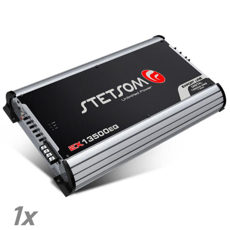 Stetsom Amplifier EX13500 EQ 1 Ohm Digital Amp Built-In EQ 14K 14200 Watts RMS