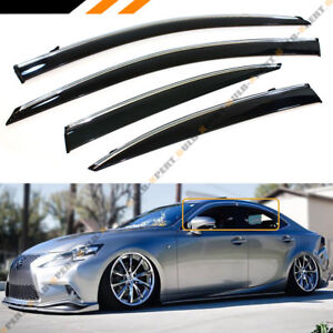 FOR 2014-2018 LEXUS IS250 IS350 IS200T VIP STYLE CLIP ON SMOKE WINDOW VISOR