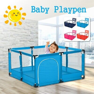 "50""x26"" Baby Playpen Kids Safety Home Pen Fence Play Center Yard Indoor Outdoor"