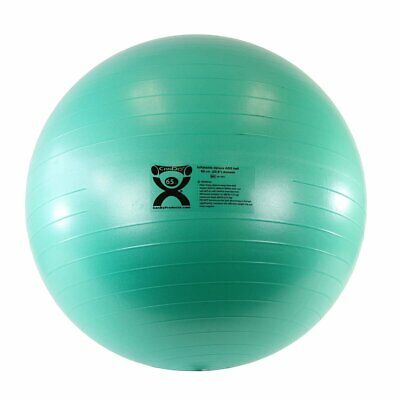 CanDo Deluxe ABS Inflatable Exercise Ball, Green, 25.6""