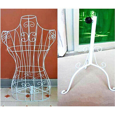 Female Mannequin Wrought Iron Wire Adjustable Stand Clothes Hanger Wedding