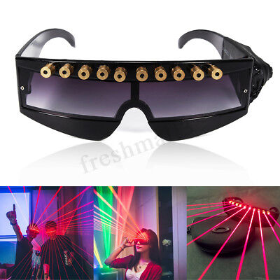 Red Laser Lighting Glasses Visible Beam Christmas Party Stage DJ Dancer Show !
