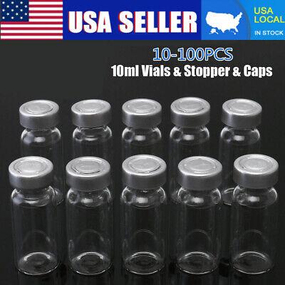 Us 100set 10ml Vials Stopper Caps For 20mm Hand Crimper Sealing Machine