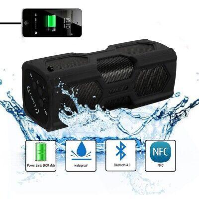 ELEGIANT Portable Wireless Bluetooth Speaker 3600mAh Power Bank NFC Waterproof
