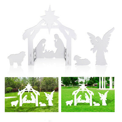 Goliath Out of doors Nativity Site - Portly Christmas Yard Award Set