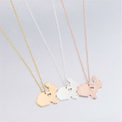 Fashion Women Easter Basket Pet Bunny Necklace Rabbit Pendant Charm Jewelry Gift
