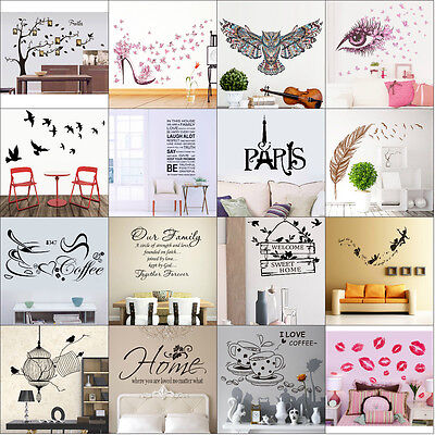 Home Decoration - Family Quote Removable Wall Sticker Art Vinyl Decal Mural Home Bedroom Decor Lot
