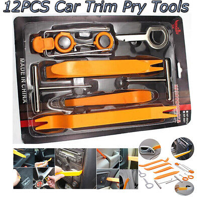 12pcs Car Door Clip Panel Dash Radio Moulding Audio Removal Pry Trim Tools (Dash Panel Trim)