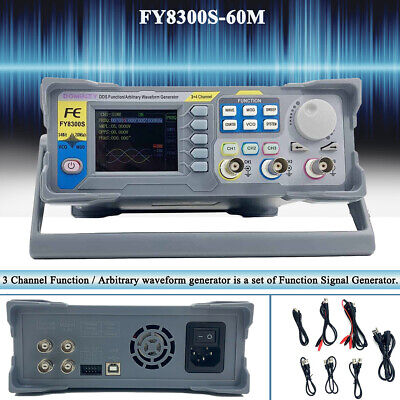 Fy8300-60m Dds Signal Generator Frequency Meter 3 Channel Function With 2.4 Tft