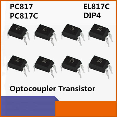 50pcs Optocoupler Transistor Dip-4 Pc817c Pc817 El817c For Arduino Diy