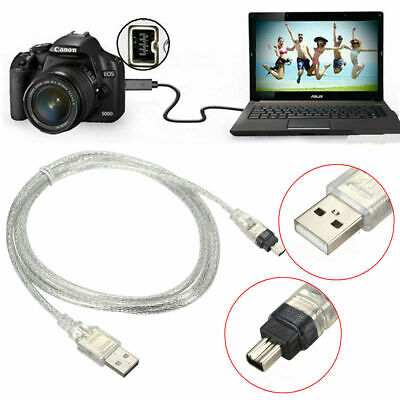 1.5M/5FT D6 USB2.0 Male to 4 Pin IEEE 1394 Male Cable FireWire...