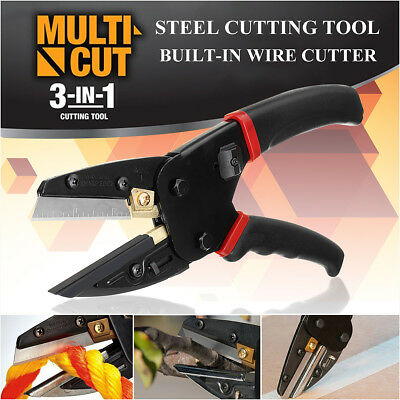 Multi Cut 3 In 1 Pliers Power Cut Cutting Tool With Built-in Wire Rope Cutter Us