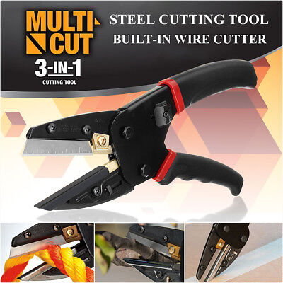 Multi Cut 3 In 1 Pliers Power Cut Cutting Tool With Built-in Wire Rope Cutter