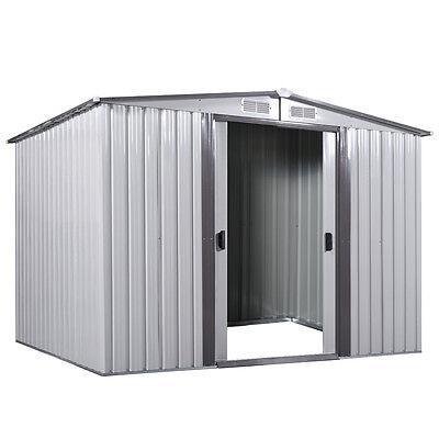 8' x 8' Outdoor Utility Tool Storage Shed Backyard Garden Garage Kit Building