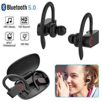 Wireless Headphones Bluetooth 5.0 Earphones Sports Ear Hook Run Earbuds Portable