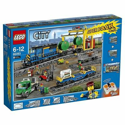 Lego City 66493 4in1 Super Pack Construction Toy Remote Control Cargo Train 6-12