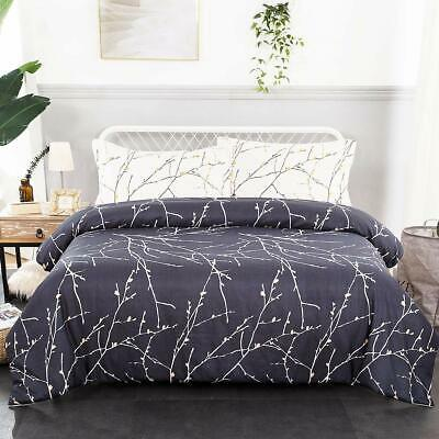 Duvet Cover Set Luxury 3 Piece Comforter Quilt Cover Pillowcase Branch -