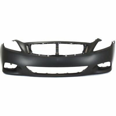 - Front Bumper Cover For 2008-2013 Infiniti G37 Convertible/Coupe Primed Plastic