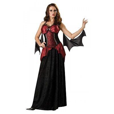 Vampira Costume Adult Vampire Victorian Vampiress Fancy Dress Std and Plus Size (Plus Size Victorian Costumes)