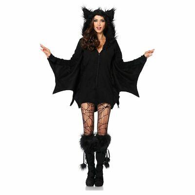 Bat Costume Women (Leg Avenue womens furry hooded bat dress costume LARGE)