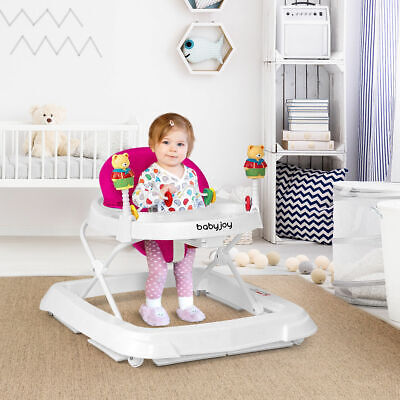 Baby Walker Adjustable Height Removable Kids Wheels Folding Portable 3 Colors