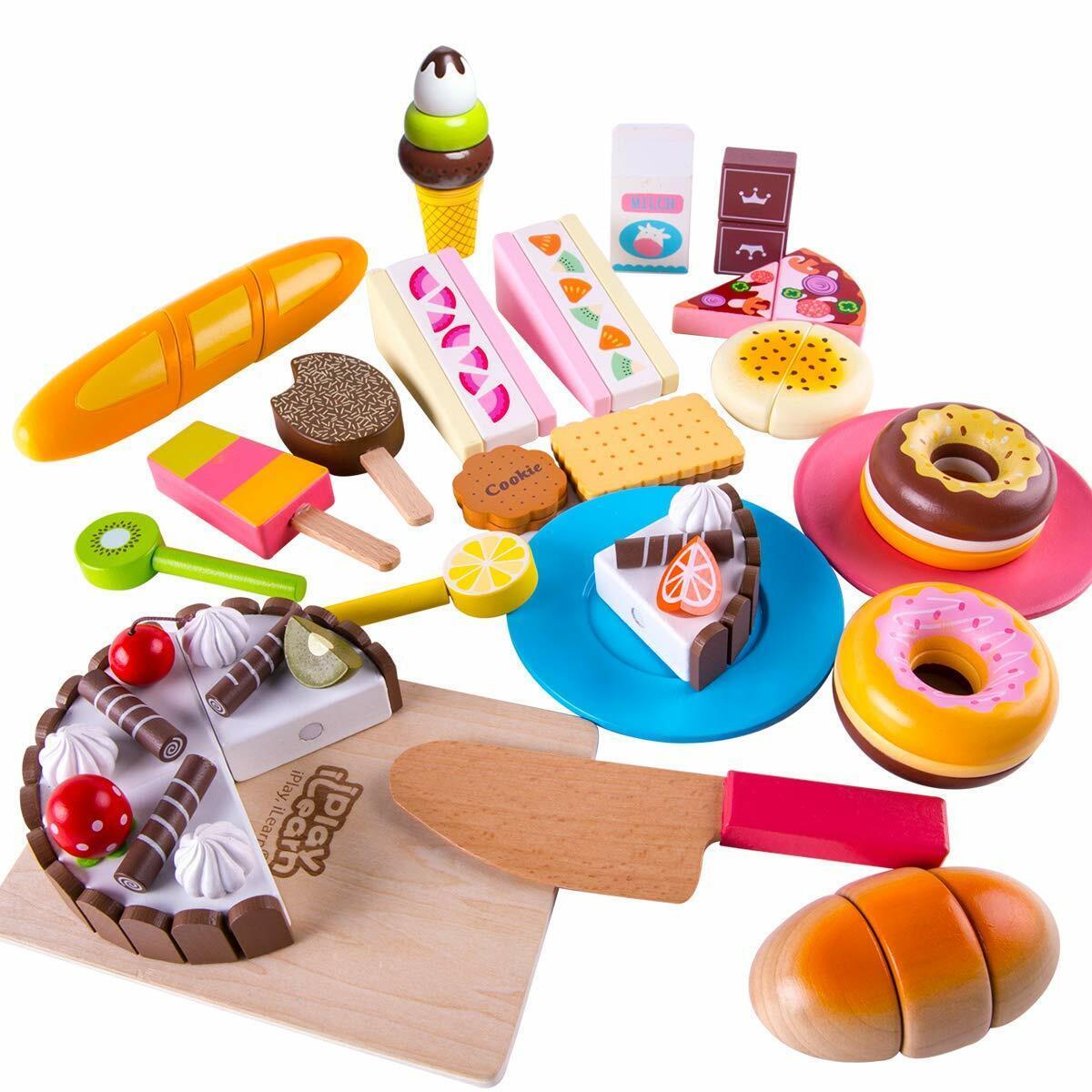 22PCS / Set Kids Kitchen Pretend Play Cutting Toy Magnetic p