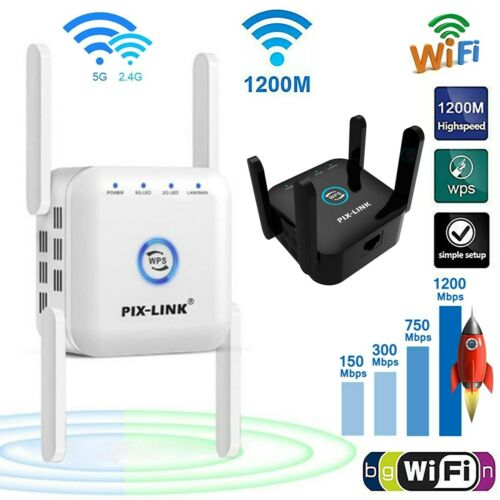 1200Mbps WiFi Extender Signal Range Booster Wireless Dual Band Network Repeater Boosters, Extenders & Antennas