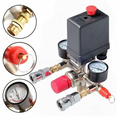Air Regulator Compressor Pressure Valve Control Switch Regulator 125 Psi Gauges