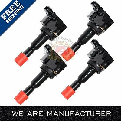 UF581 30520PWC003 NEW SET OF 4 IGNITION COIL FOR 2007 2008 Honda Fit 15L C1578