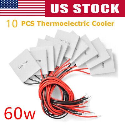 10 Pcs 12v 60w Thermoelectric Cooler Tec-12706 Peltier Plate Module Tec1-12706